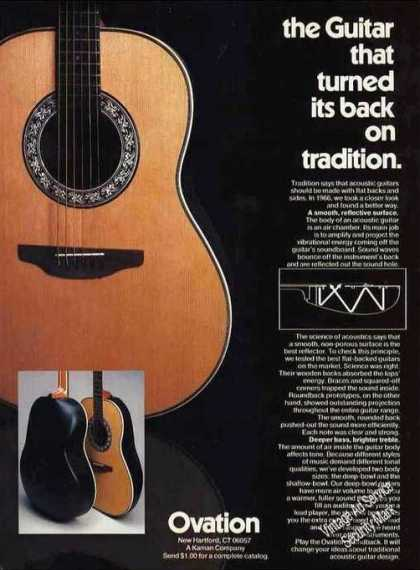 "Ovation Guitar ""Turned Its Back On Tradition"" (1980)"