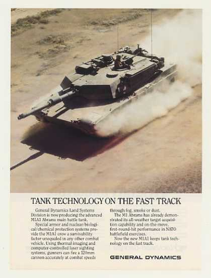 General Dynamics M1A1 Abrams Battle Tank Photo (1987)