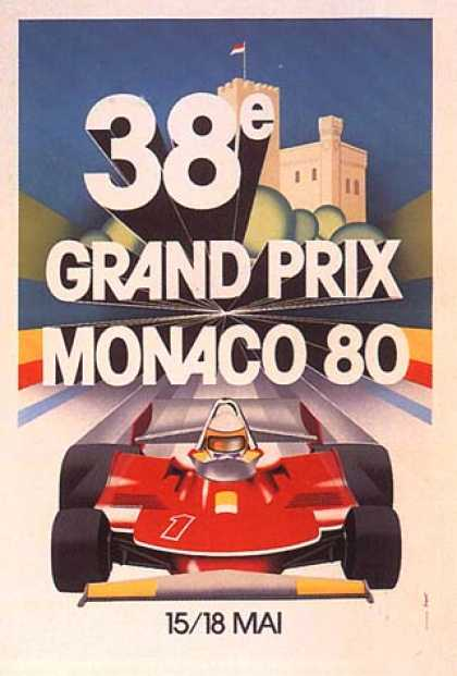 Monaco Grand Prix by Geo Ham (1980)