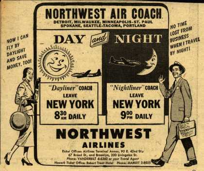 Northwest Airline's Dayliner and Nightliner Coach – Northwest Air Coach (1950)
