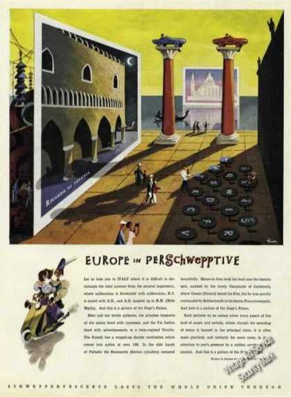 Europe In Perschwepptive Rare Ad George Him Art (1956)