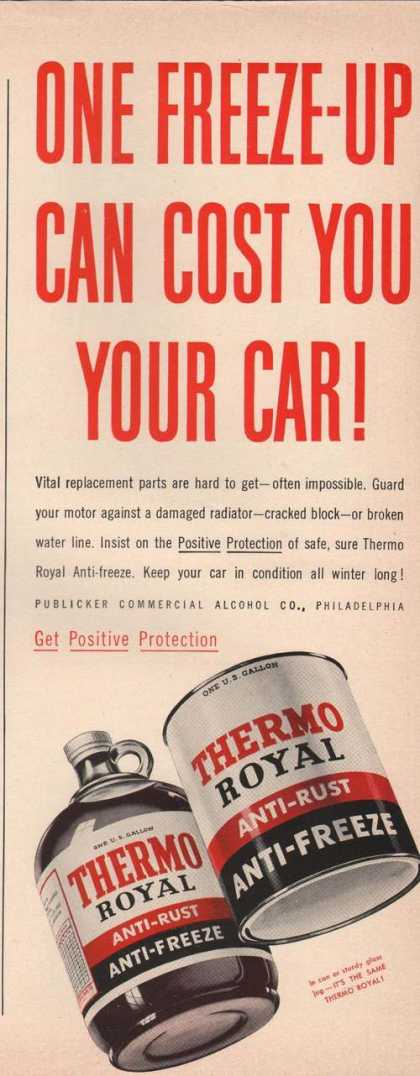 Thrmo Royal Anti Freeze for Cars (1942)