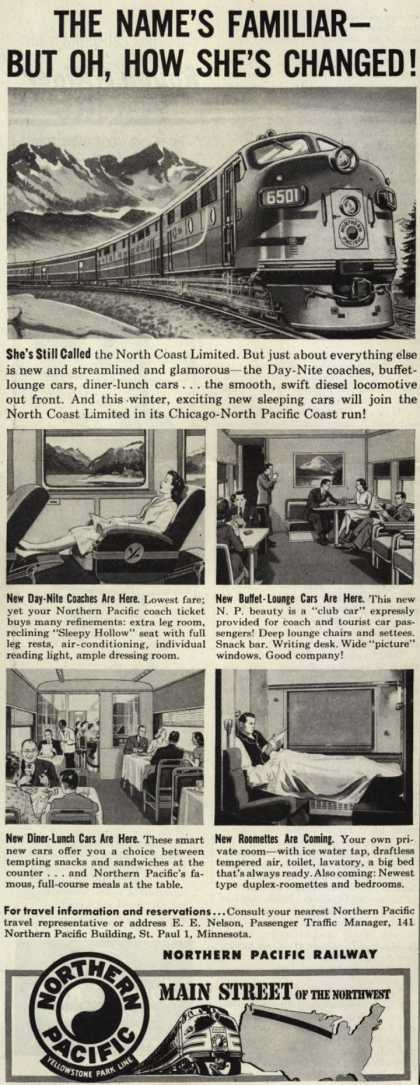 Northern Pacific Railway Company – The Name's Familiar – But Oh, How She's Changed (1947)