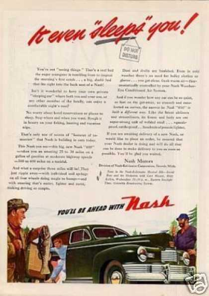 "Nash Car Ad ""It Even Sleeps You"" (1946)"