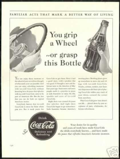 Big Cola Cola Coke Part of American Life B&amp;W (1940)