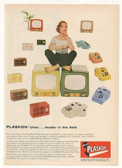 Barrett Plaskon Motorola Colored TV Cabinets (1955)