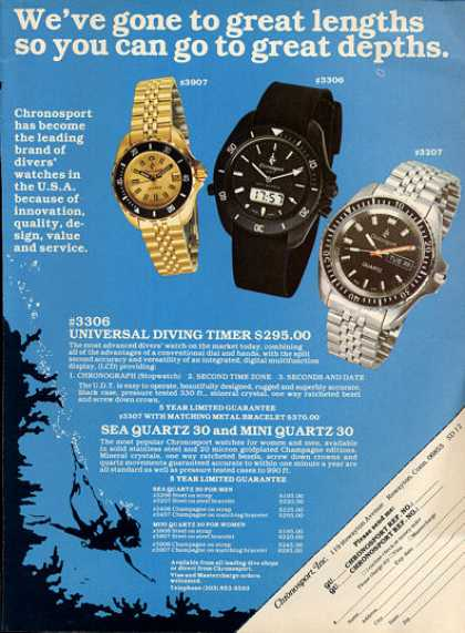 Chronosport Divers Watch 3907 3306 3207 T (1979)