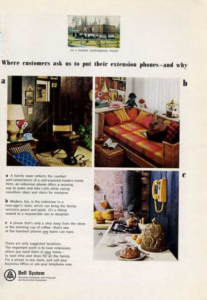 Bell System Where and Why Extention Phone (1965)
