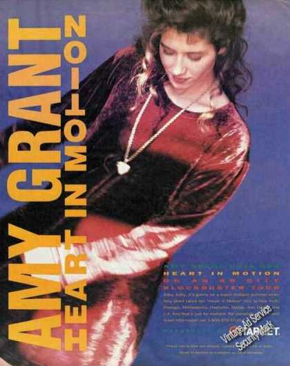 "Amy Grant Photo ""Heart In Motion"" Tour (1991)"