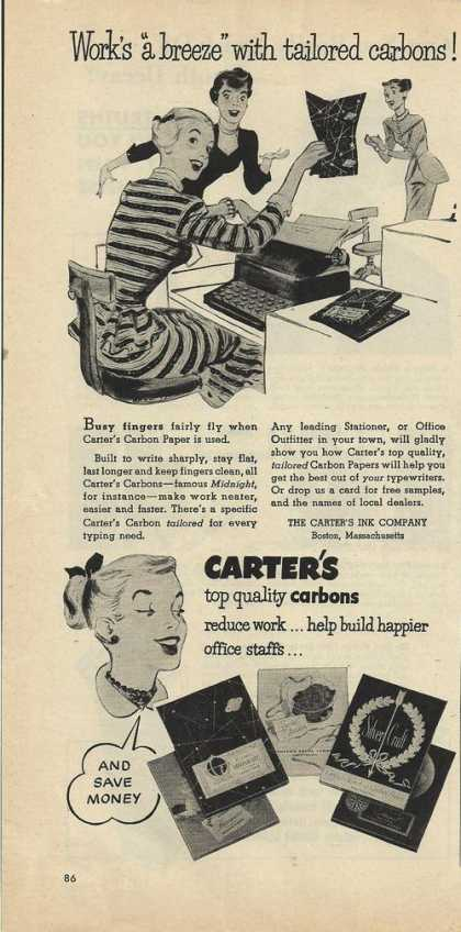 Carters Quality Carbon Paper (1950)