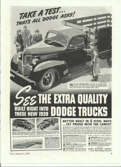 Dodge Panel & 1 Ton Stake Trucks Print (1939)