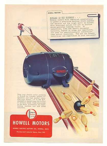 Howell Motors Bowling Alley art (1951)