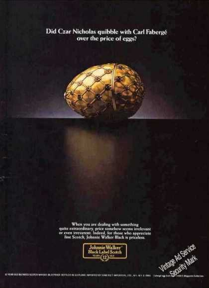 Johnnie Walker Black Label Carl Faberge Egg (1984)