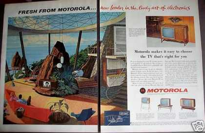 Motorola Tv-stereo Combo Beautiful Sea View (1963)