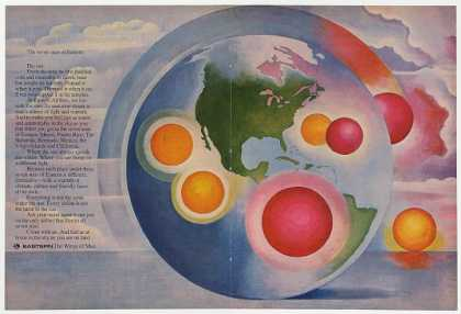 Eastern Airlines Seven Suns Colorful art Dbl-Pg (1969)