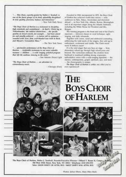 Boys Choir of Harlem Photos Booking (1986)
