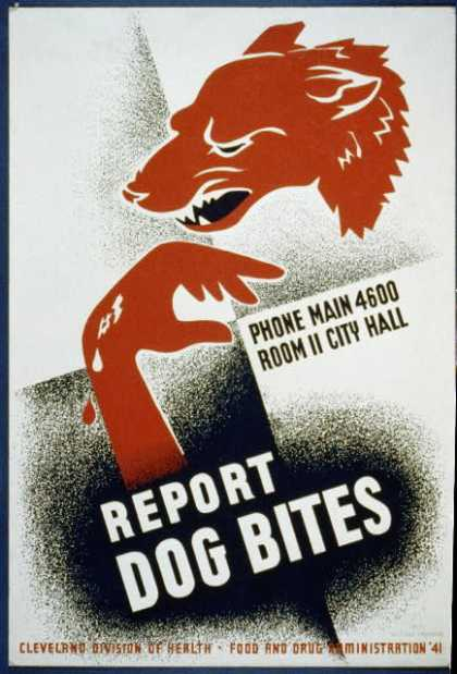 Report dog bites. (1941)