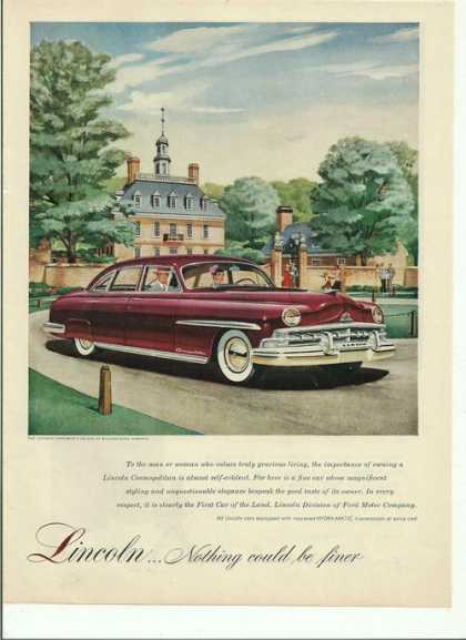 Lincoln Car Nothing Could Be Finer (1950)