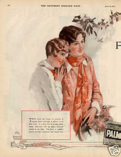 Palmolive Soap Color Ad Centerfold (1926)