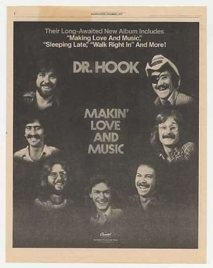 Dr Hook Makin' Love and Music Album Promo Photo (1977)