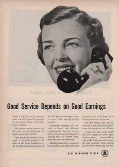 Bell Telephone System – Good service depends on good earnings (1948)