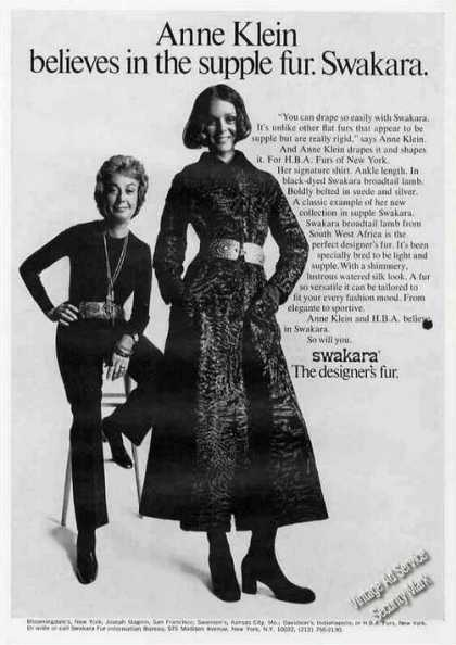 Anne Klein Photo Swakara the Designer's Fur (1971)