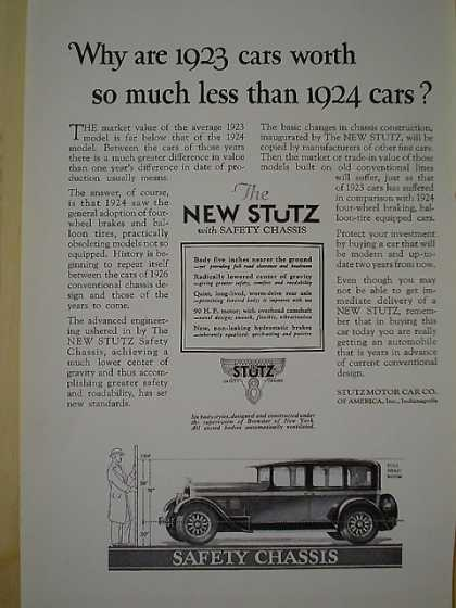 The new Stutz motor car with safety chassis (1926)