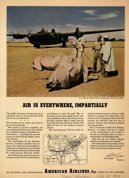 American Airlines – Air Is Everywhere, Impartially (1946)