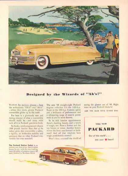 Packard Car – Yellow Convertible and Station Wagon (1947)