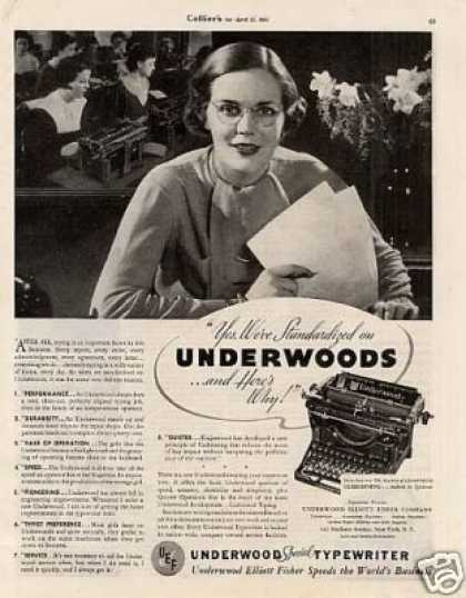 Underwood Typewriter (1935)