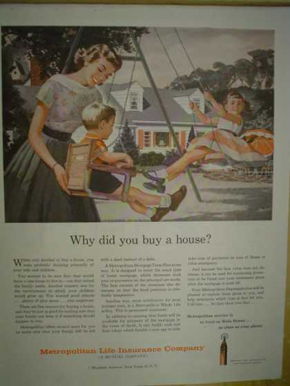 Metropolitan Life Insurance Why did you buy a house (1958)
