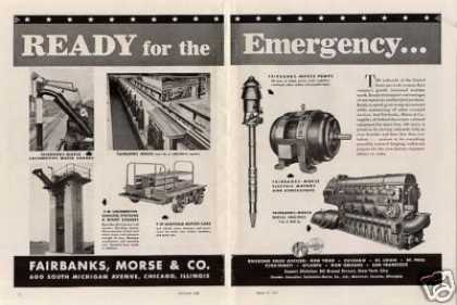 Fairbanks-morse Ad Engines, Motors, Pumps... (1942)