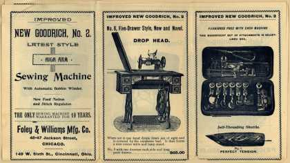 Foley & Williams Mfg. Co.'s Goodrich Sewing Machine – Improved New Goodrich, No. 2