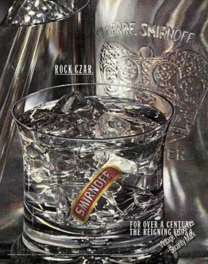 Smirnoff Rock Czar the Reigning Vodka Ad Large (1989)