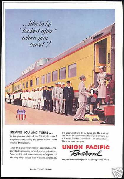 Union Pacific Railroad Train 35 Employees (1959)