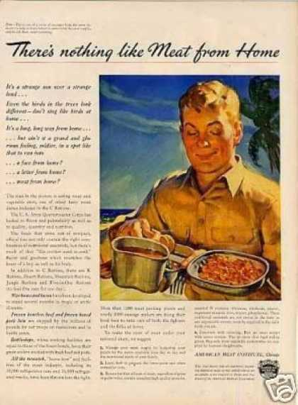 American Meat Institute Ad Rations (1943)
