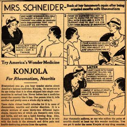 Konjola &#8211; Try America&#8217;s Wonder Medicine Konjola For Rheumatism, Neuritis (1933)