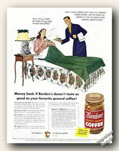 Borden's Instantly Prepared Coffee (1946)
