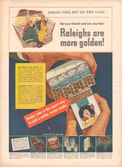 Raleigh Cigarettes – Brown & Williamson Tobacco Co. (1942)
