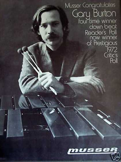 Gary Burton Critic's Poll Winner Photo Musser (1972)
