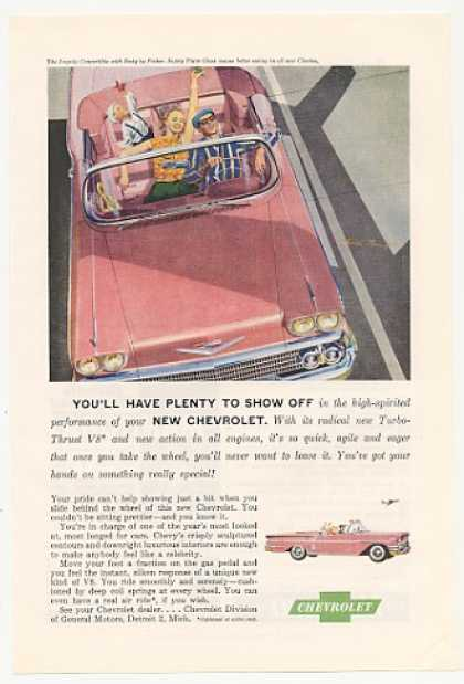 Pink Chevrolet Chevy Impala Convertible (1958)