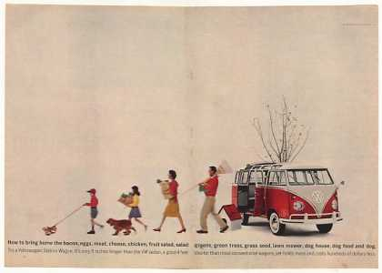 VW Volkswagen Station Wagon Bring Home Tree (1961)