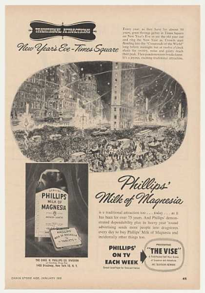 Phillips Milk of Magnesia New Year Times Square (1955)