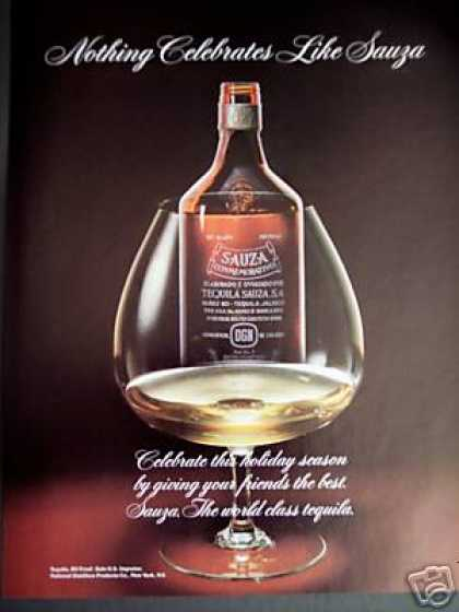 Sauza Tequila Bottle Photo (1985)