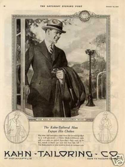 Kahn Tailoring Mens Clothes (1921)