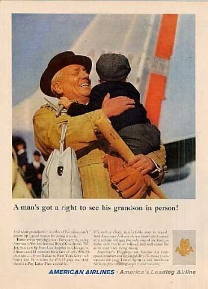 "American Airlines Ad ""A Man's Got a Right... (1960)"