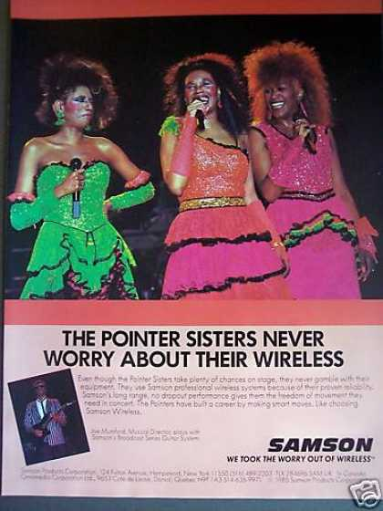 The Pointer Sisters Photo Samson Wireless (1986)