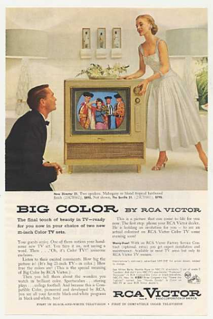 RCA Victor Director 21 Blond Tropical Color TV (1955)