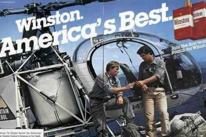 Winston Cigarettes Very Large Helicopter Photo (1983)