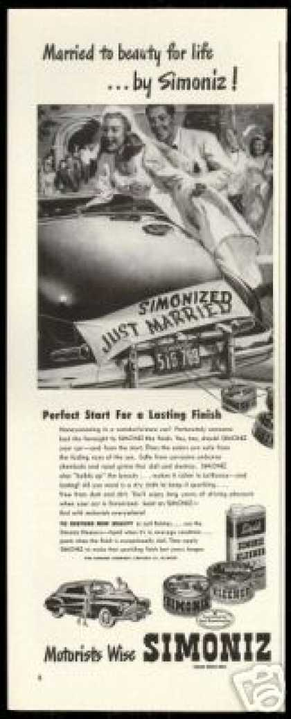Wedding Day Vintage Simoniz Car Wax (1947)
